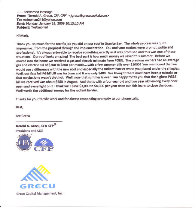 Letter from Gecu Capital Management, Inc.